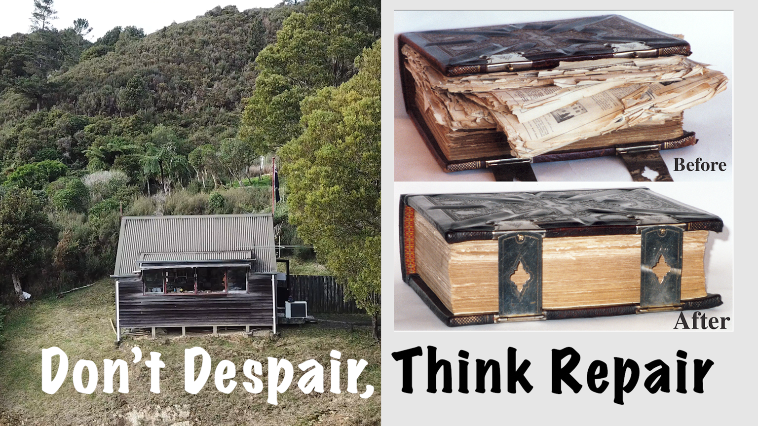 Don't Despair, Think Repair